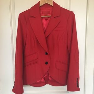 Joe Fresh red wool blend blazer sz M